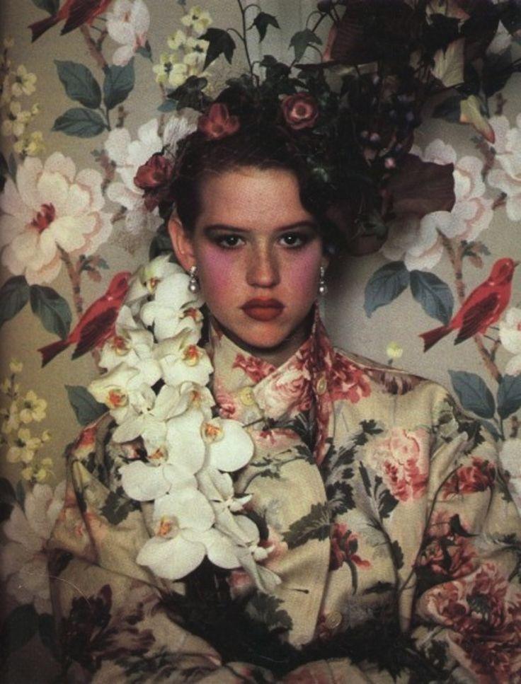 oh, molly!Molly Ringwald, Art Boards, Sheila Metzner, Breakfast Club, Floral Wallpapers, Mollyringwald, Sixteen Candles, Fashion Photography, Flower