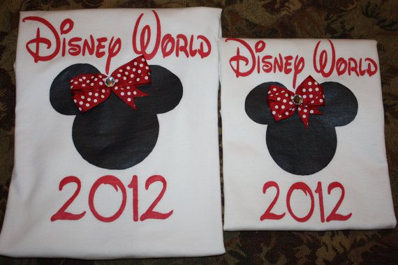Mother and Daughter Matching Disney World or by layniebugdesign, $30.00