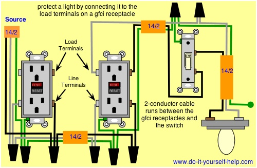 residential wiring diagrams and schematics wiring lights and schematics on same circuit wiring diagrams for ground fault circuit interrupter ... #10
