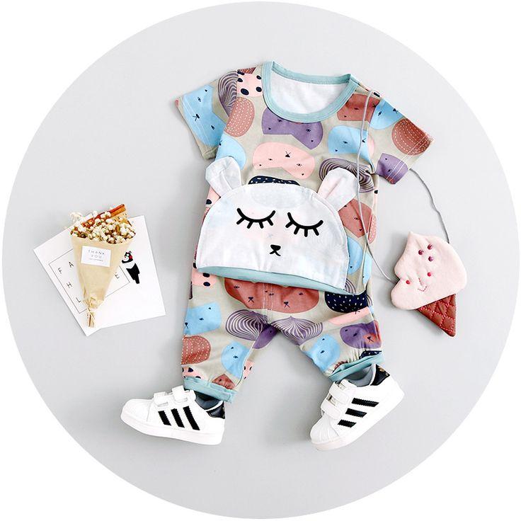 >> Click to Buy << Summer Baby Girls Clothing Sets Camouflage Cartoons T-Shirt+Short Pants Kids clothes set suit roupas de bebe #Affiliate