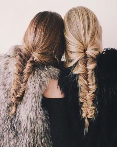 Messy fishtail braid inspo