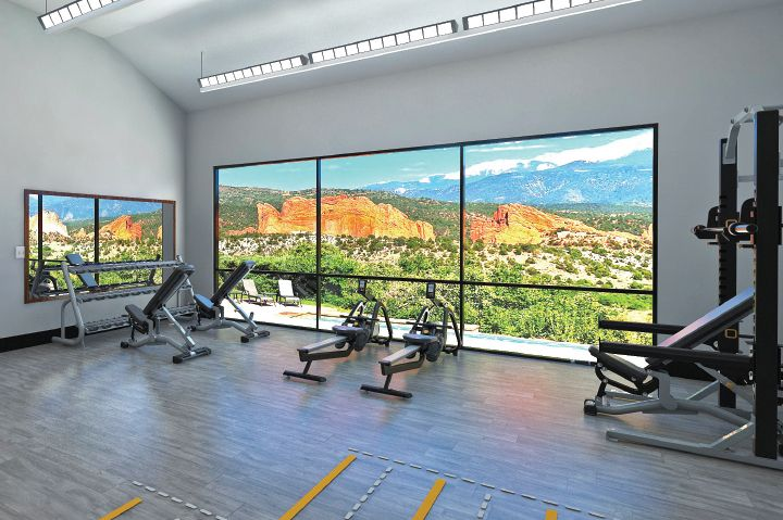 Fitness Center Rowing Machines With Mountain Views Fitness Center Resort Spring Resort