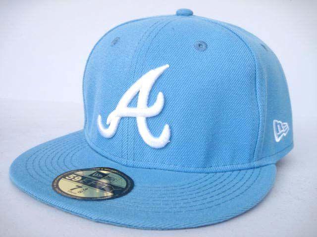 Gorra Atlanta Braves LS55Gorra Atlanta Braves De Beisbol Azul Color Puro y Moda
