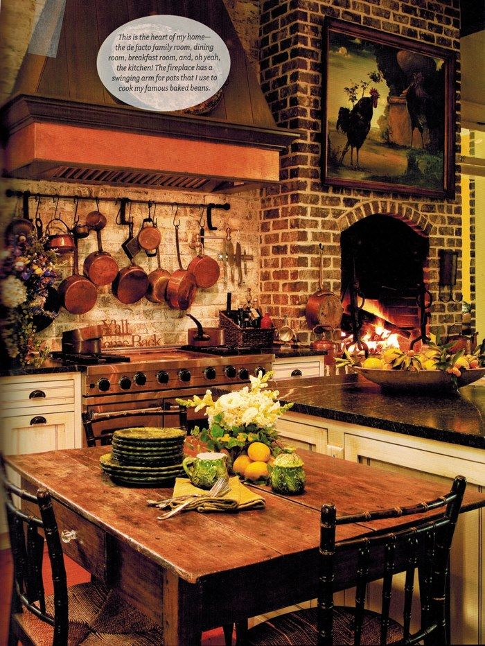 In The BNOTP Library: Paula Deenu0027s Savannah Style. Fireplace In  KitchenKitchen ...