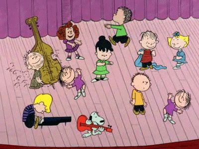 omgosh i did this yesterday with fam... we all just broke out into charlie brown dance moves