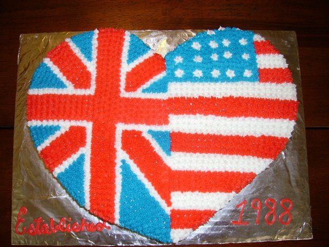 American Style Birthday Cake