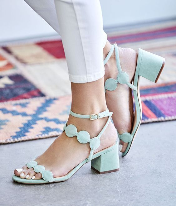 e25dd3cf3b5  60s-inspired block heel sandals in bright colors