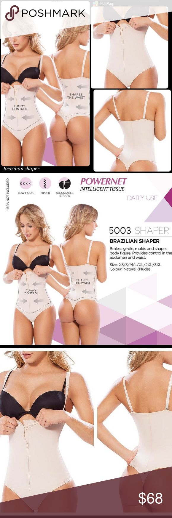 Brazilian Faja shaper control Faja Colombiana that molds and shapes body figure, provide maximum control in the abdomen and ️waist. ️bra is not included Intimates & Sleepwear Shapewear