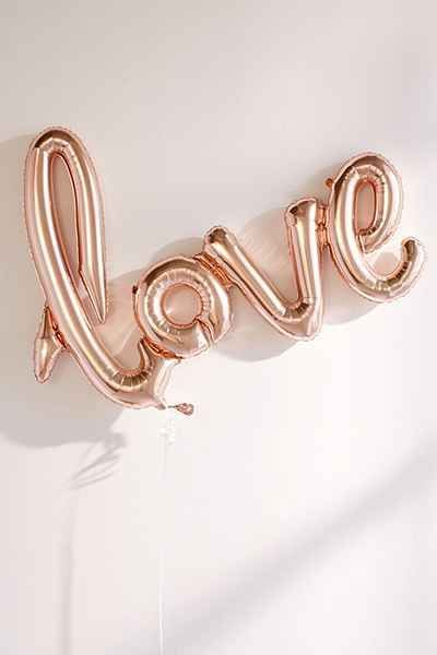 Rose Gold Love Balloon - Urban Outfitters
