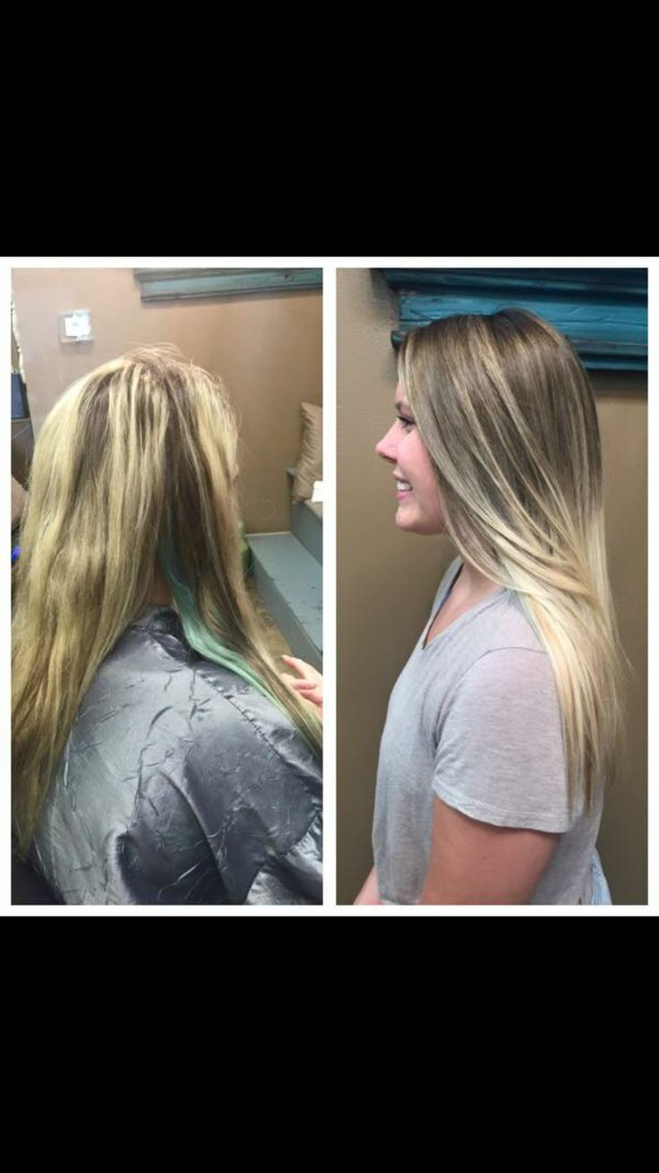 Natural blonde color and balayage by Heather Stone