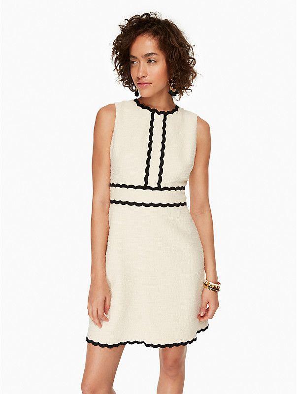 scallop tweed dress   Kate Spade New York