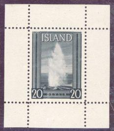 Islanda 1937 - 20° anniversario indipendenza, saggio emesso da Thomas de la Rue