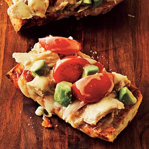 Tuna Melts with Avocado | MyRecipes.com -- SOO good!! The only thing I did differently is that I used a slice of Ezekiel bread instead of french bread.  And I used mozarella instead of swiss cheese. And I didn't have cherry tomatoes so I chopped a regular tomato into large chunks.: Solid Tuna, Budget Recipes, Avocado Recipes, Budget Cooking, Tuna Melts, Tuna Melted, Cooking Lights, Budget Meals, Cooking Recipes