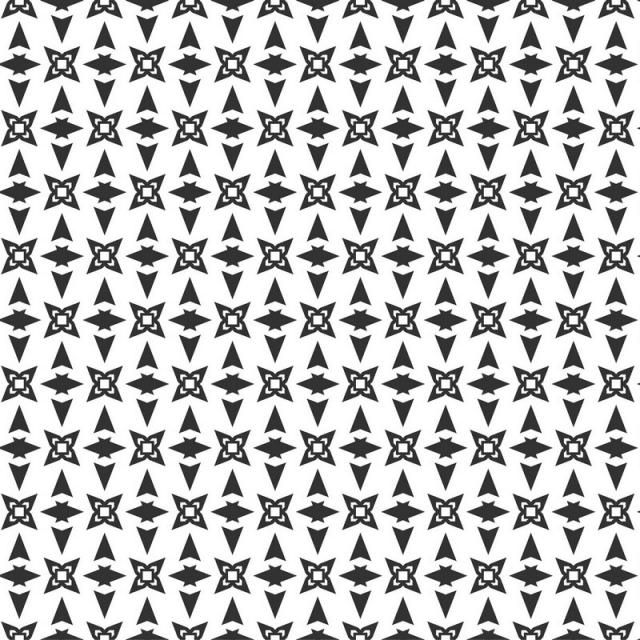 Abstract Geometric Seamless Pattern Repeating Geometric Black And