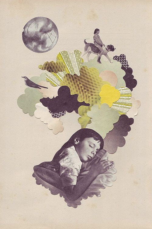 Look, someone named after my three year old graduated from art school and started filling the world up with beautiful collage art. As a mom obsessed with researching the google results for my baby names, I couldn't be happier. Illustrator Eleanor Wood illustration