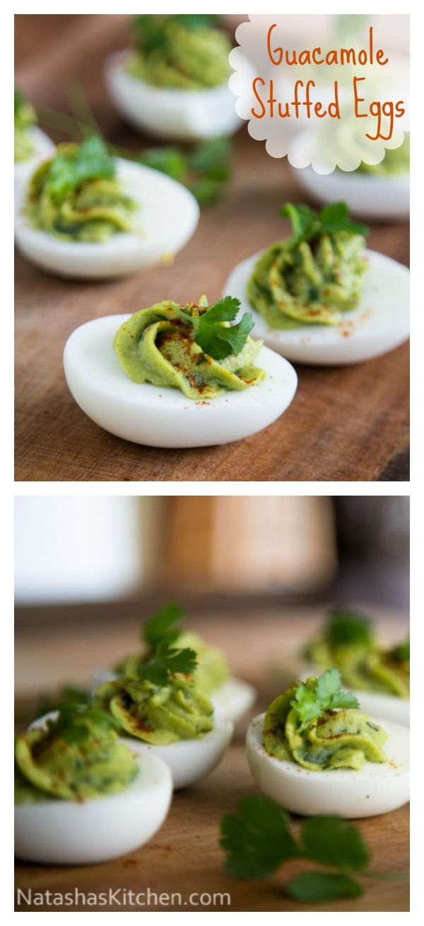 Guacamole Stuffed EggsGuacamole Stuffed Eggs, Eggs Yolk, Guac Eggs, Green Eggs, Eggs Thes, Avacado Egg Salad, Stuffed Eggs Yum, Avacado Deviled Eggs, Egg Stuffed Avacado