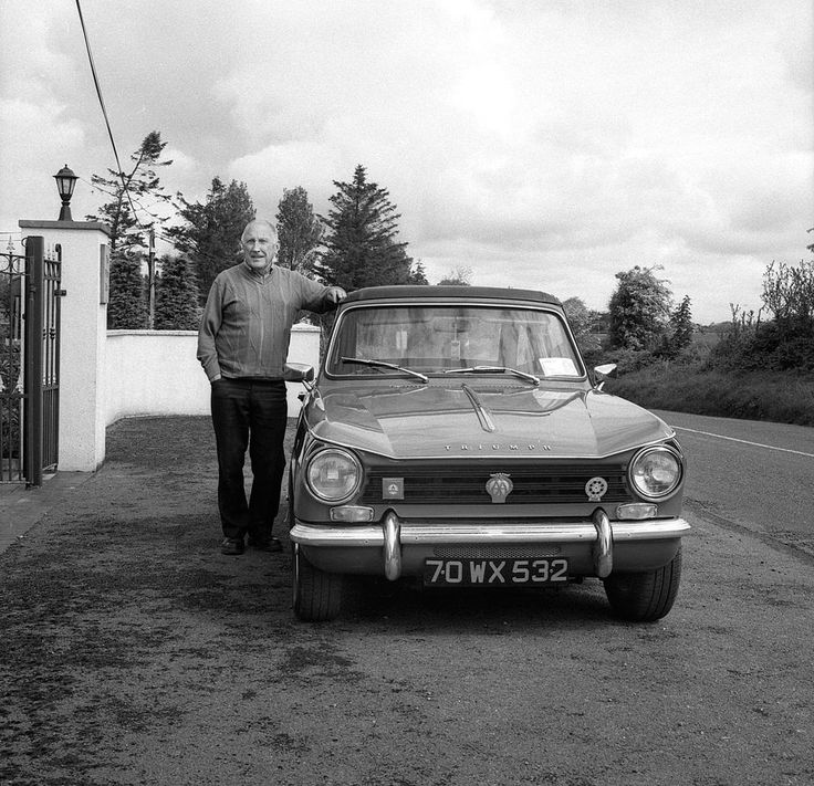 Pat Burke with his Triumph Herald between Craughwell and Athenry, Co Galway, Ireland 2014