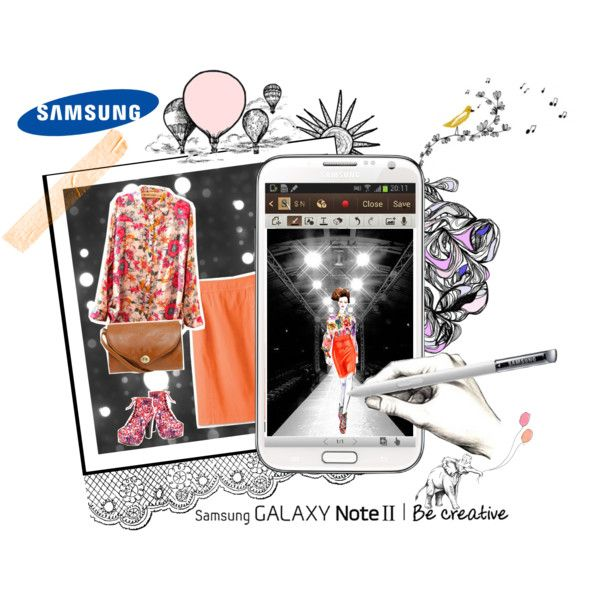 """""""Create a Downtown Muse look for a chance to win a Samsung GALAXY Note II!"""" by aninditaa on Polyvore"""