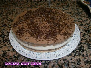 COCINA CON XENA: Tarta tres chocolates.... Sin nata....muy buena