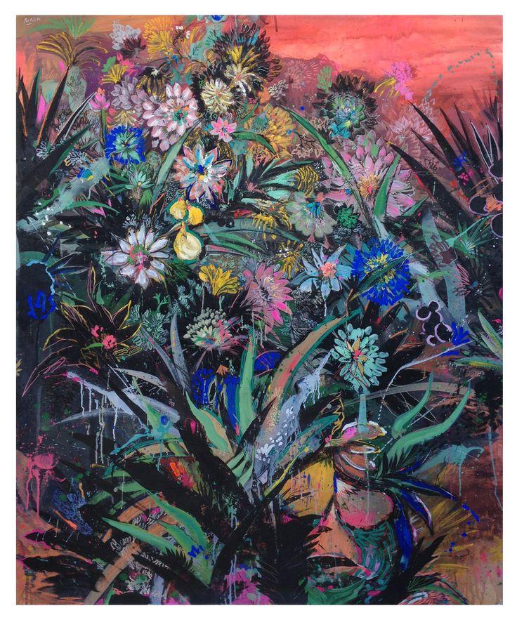 #flowers, #paintingflowers, #lemon, #rose, #foliage, #americanpainter, #lucaspertile, #contemporaryart, #fineart