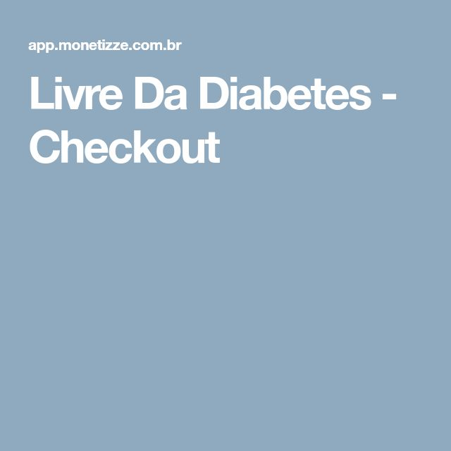 Livre Da Diabetes - Checkout