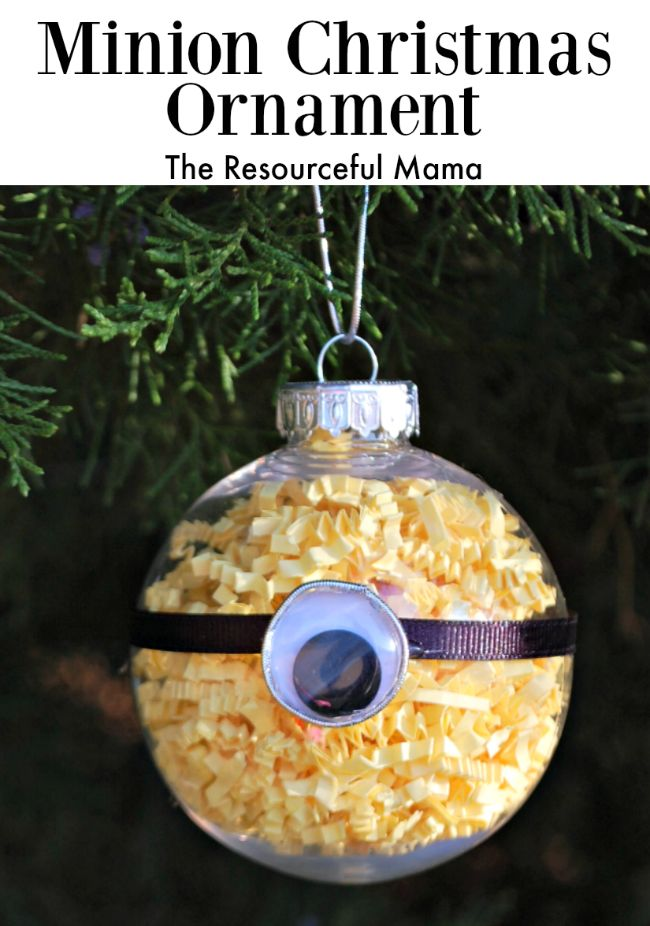 Minion Kid Christmas Ornament--my nephew would love this!! Good idea for a gift for him!