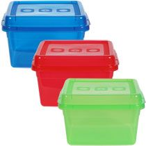 Bulk Small Rectangular Translucent Plastic Storage Containers with Lids at DollarTree.com
