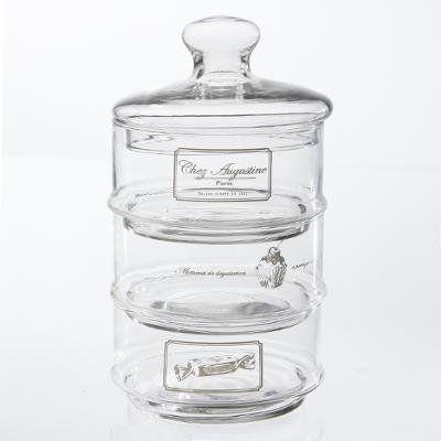 bonbonniere en verre sur 3 niveaux chez augustine bonbonnire en verre 13x22cm 3 niveaux - Bonbonnire Mariage En Verre