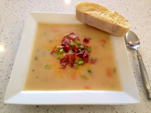 Creamy Potato Bacon Soup Recipe. The best potato soup recipe around! I have been making this recipe for years, it is delicious!