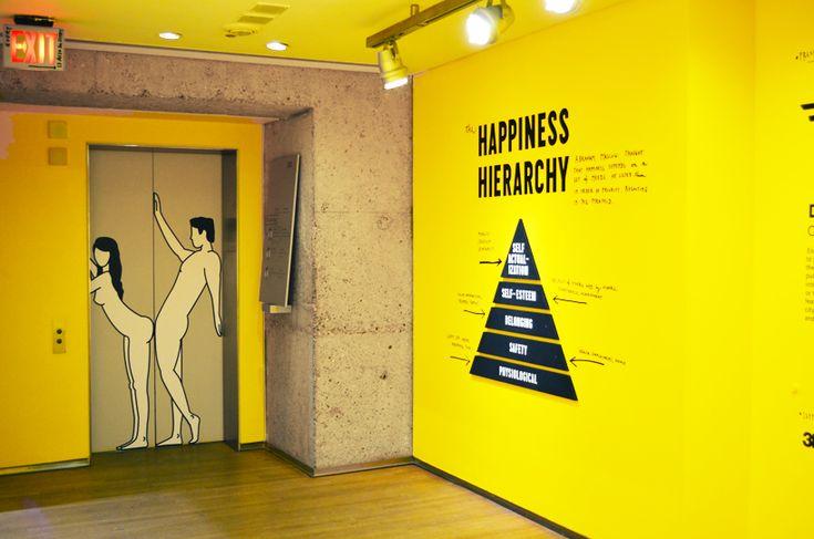Elevator doors, The Happy Show, Design Exchange, Toronto, CDN (by Stefan Sagmeister)