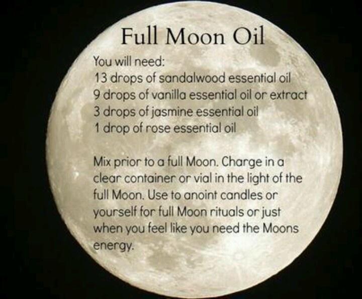 I shall do this near the next full moon!