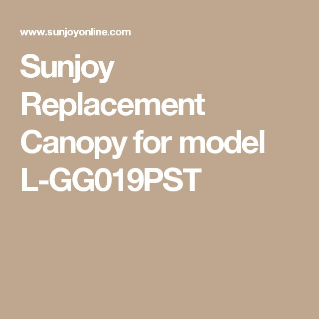 Sunjoy Replacement Canopy for model L-GG019PST