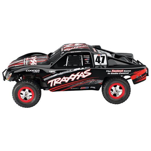 traxxas slash mike jenkins 4wd 1 16 scale rc truck black red rc cars land vehicles best. Black Bedroom Furniture Sets. Home Design Ideas