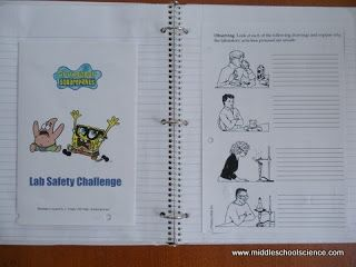 My Science Lessons: SpongeBob Lab Safety Activity
