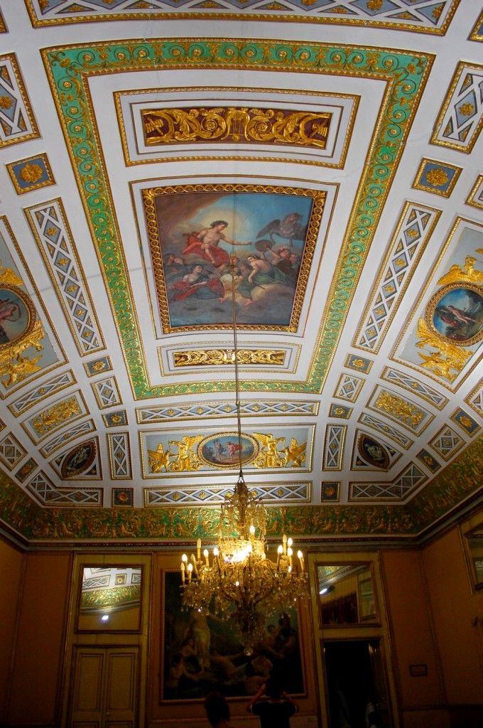 Scicli, ceiling in Palazzo Spadaro