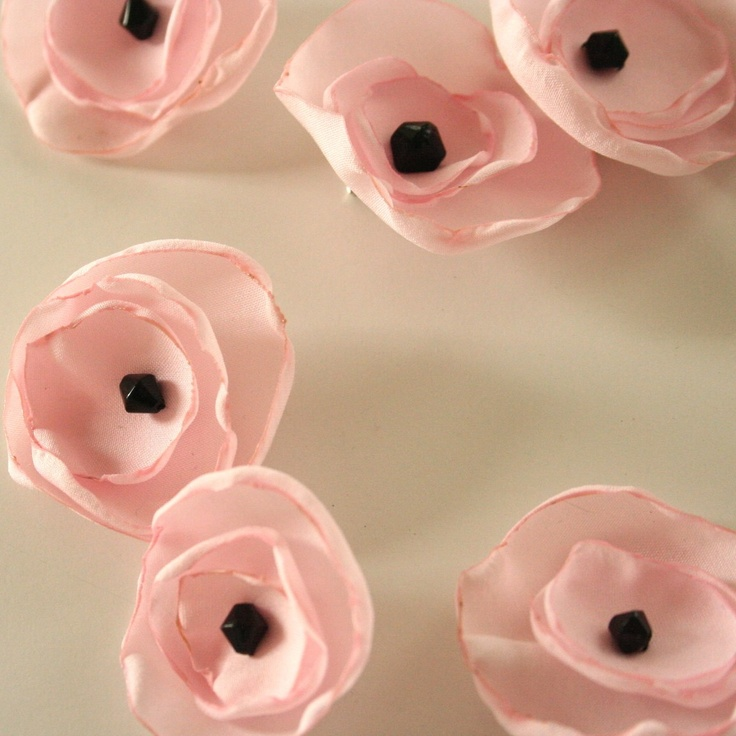 Recycled Pink Poppy Pin