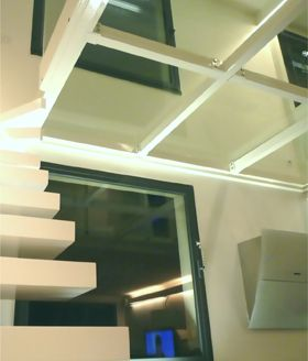 14 best plancher verre images on pinterest stairs glass - Fermeture mezzanine verre ...