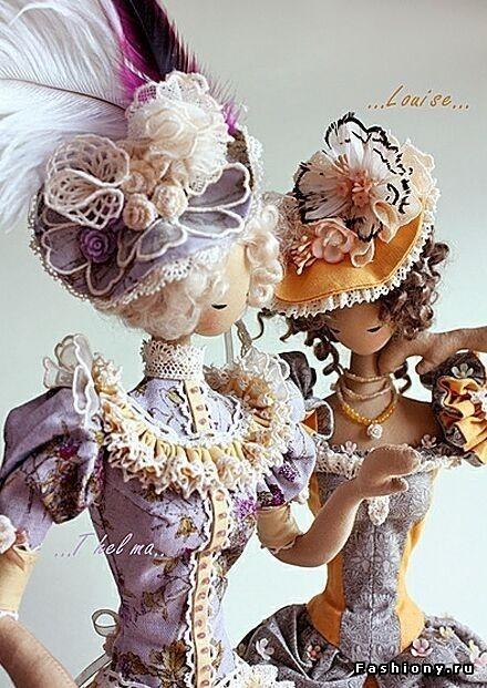 Auradesign Dolls || ladies, plush, stuffed, felt, fabric