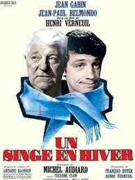 """397. """"Un singe en hiver"""" d'Henri Verneuil avec Jean-Paul Belmondo, Jean Gabin, Suzanne Flon. 1962"""
