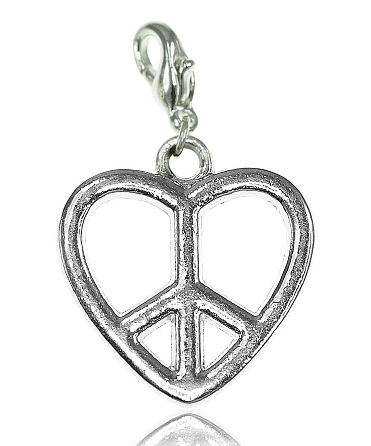 Breloque charm coeur peace - So Charm