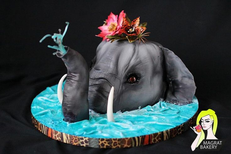 Tropical Elephant Cake  by Maria Magrat