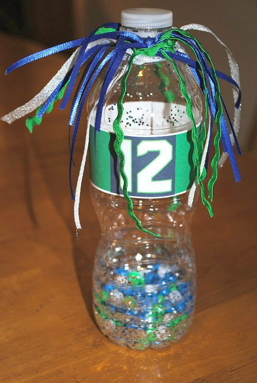 SEA!... Seahawks Noise Maker Craft Project for Kitsap 12s ...HAWKS! | Macaroni Kid