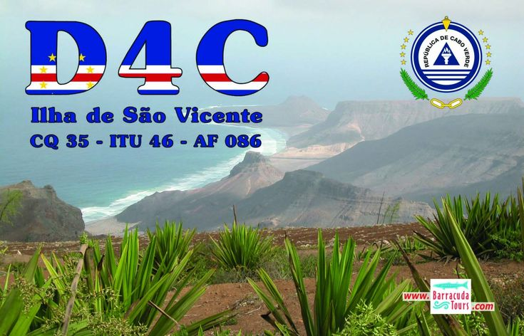 Andrea HB9DUR will be active from Sao Vicente Island (IOTA AF-086), Cabo Verde (Cape Verde) in CQ WW DX SSB Contest 24 - 25 October 2015 as D4C. He will be in SOSB Category.