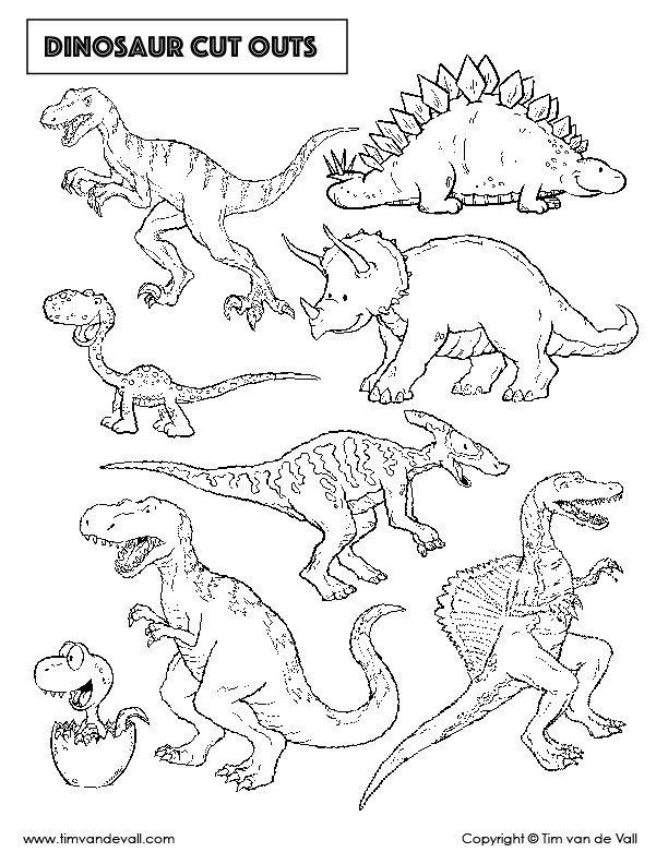 Pin On Dinosaur Cut Outs Printable dinosaur worksheets pdf