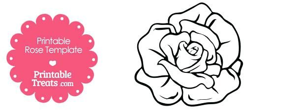 paper rose template printable printable rose shape template free