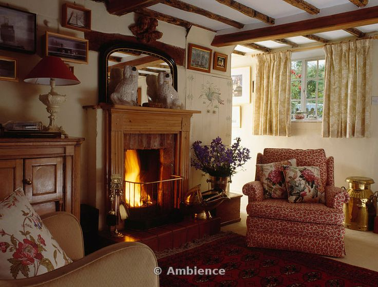 English cottage fireside english french irish for Living room decorating ideas ireland