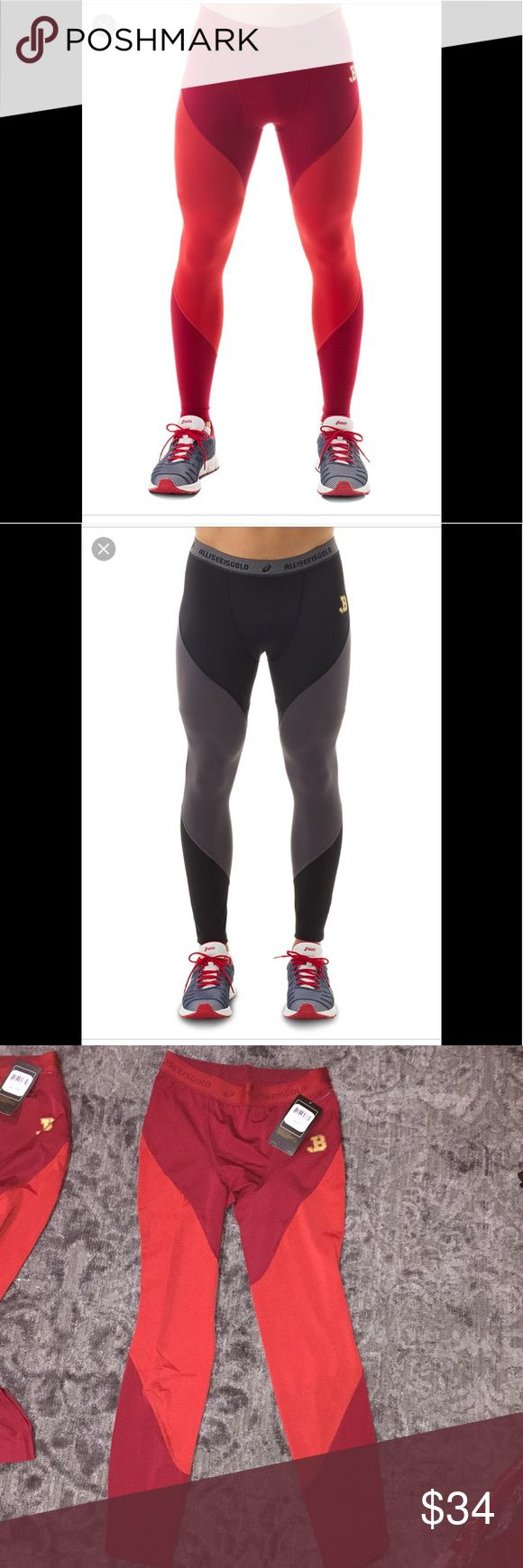 Men's tights Men's running tights. Available in red and black Asics Pants Sweatpants & Joggers