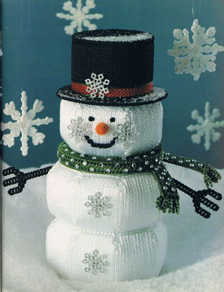 334 best images about plastic canvas christmas and winter for Plastic snowman