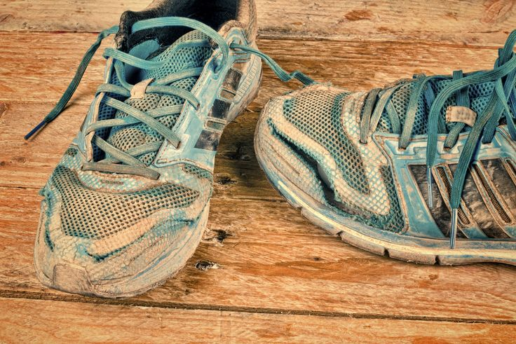Give your old shoes a makeover by washing them in your dishwasher (or a  washing