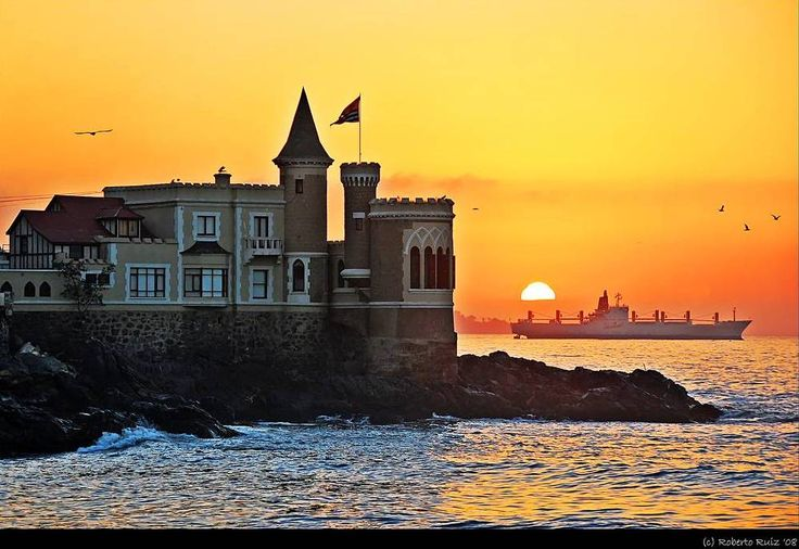 Sunset in Viña del Mar, Chile